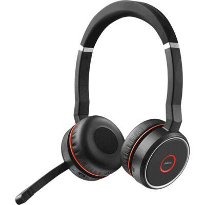 Jabra Evolve 75 UC Stereo - Office/Call center - Headset - Head-band - Black,Red - Binaural - Digital 7599-838-109