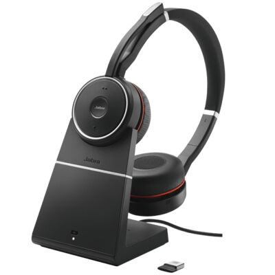 Jabra Evolve 75 UC Stereo - Headset - Head-band - Black - Binaural - Digital - Wired & Wireless 7599-838-199