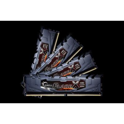 G.Skill Flare X (for AMD) F4-2933C16Q-64GFX - 64 GB - 4 x 16 GB - DDR4 - 2933 MHz - Black F4-2933C16Q-64GFX