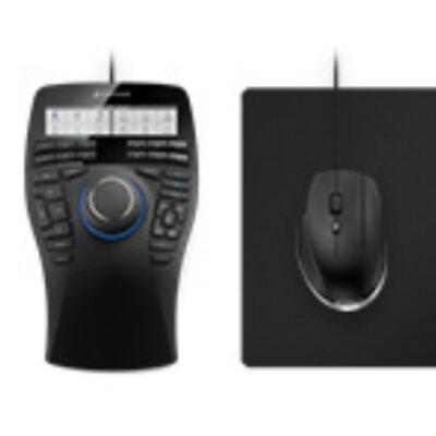 3Dconnexion SpaceMouse Enterprise Kit Space Mouse Enterprise+CadDMouse+Cad - Mouse - Laser