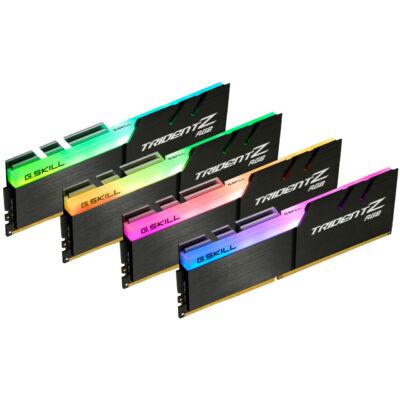 G.Skill Trident Z RGB F4-4266C17Q-32GTZR - 32 GB - 4 x 8 GB - DDR4 - 4266 MHz - 288-pin DIMM - Black F4-4266C17Q-32GTZR