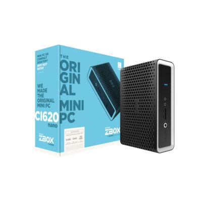 ZOTAC ZBOX CI620 nano - 8th gen Intel® Core™ i3 - i3-8130U - 2.2 GHz - 14 nm - 3.4 GHz - 15 W ZBOX-CI620NANO-BE