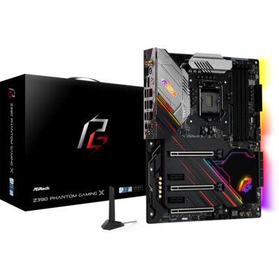 ASRock Z390 Phantom Gaming X - Intel - LGA 1151 (Socket H4) - Intel® Celeron® - Intel® Core™ i3 - Intel Core i5 - Intel Core i7 - Intel Core i9 - Intel® Pentium® - DDR4-SDRAM - DIMM - 2133,2400,2666,2800,2933,3200,3600,3733,3800,3866,4000,4133,4266 MHz 90