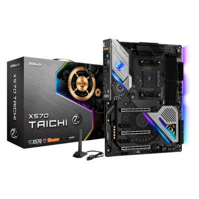 ASRock X570 Taichi - AMD - Socket AM4 - AMD Ryzen - DDR4-SDRAM - DIMM - 2133,2400,2667,2933,3200,3466,4133,4200,4266,4300,4400 MHz 90-MXBA83-A0UAYZ