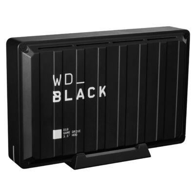 WD D10 - 8000 GB - 3.2 Gen 2 (3.1 Gen 2) - 7200 RPM - fekete, fehér WDBA3P0080HBK-EESN