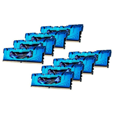G.Skill 64GB DDR4-2666 - 64 GB - 8 x 8 GB - DDR4 - 2666 MHz - Blue F4-2666C16Q2-64GRB