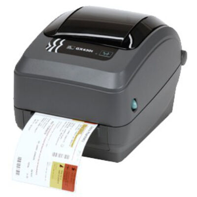 Zebra GX430t - Direct thermal / thermal transfer - 300 x 300 DPI - 102 mm/sec - 108 x 991 mm - EPL2,ZPL,ZPL II - Black,Grey GX43-102522-000