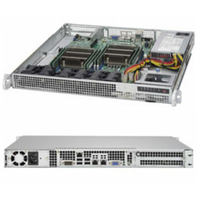 Supermicro SuperServer 6018R-MD Black - Server Barebone - Intel Socket 2011-3 (Core i) SYS-6018R-MD